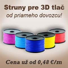 Struny pre 3D tlač